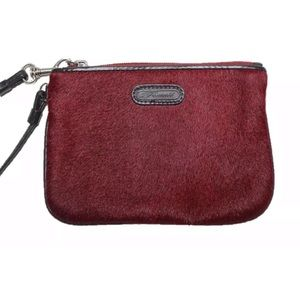 Fossil Calf Hair Small Wristlet